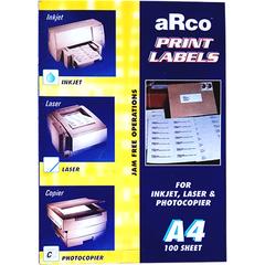ARCO A4 PRINT LABELS - U Trading