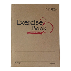 KRAFT COVER EXERCISE BOOK F5 80 PAGES