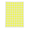 SELF ADHESIVE FLOURESCENT COLOUR LABELS 16MM 10'S