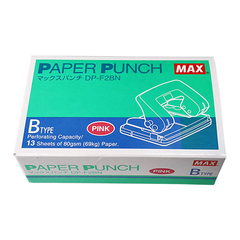 MAX PAPER PUNCH PINK B TYPE