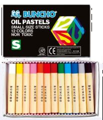 Buncho Oil Pastels 12 Colours