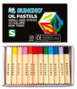 Buncho Oil Pastels 12 Colours