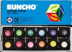 Buncho Poster Colours 15cc 12 Colours