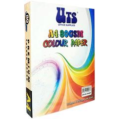 UTS A4 80GSM COLOUR PAPER (LIGHT COLOURS)