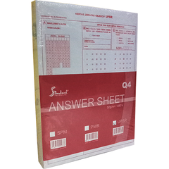 UPSR / PMR / SPM OBJECTIVE ANSWER PAPER