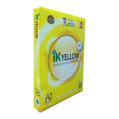 IK YELLOW A3 80GSM MULTIFUNCTION BUSINESS PAPER