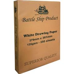 "BATTLESHIP DRAWING PAPER 11"" X 15"" 135 GSM"